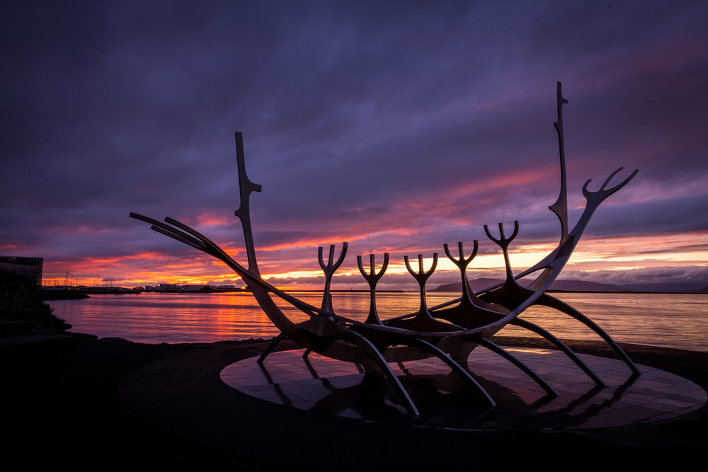 Sun Voyager Statue in Reykjavik, Iceland. Photo by:  Kevin Walsh