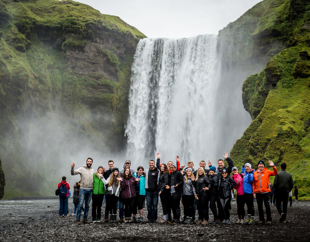 VoyEdge RX at the Skógafoss Waterfall in Iceland's Southern Coast