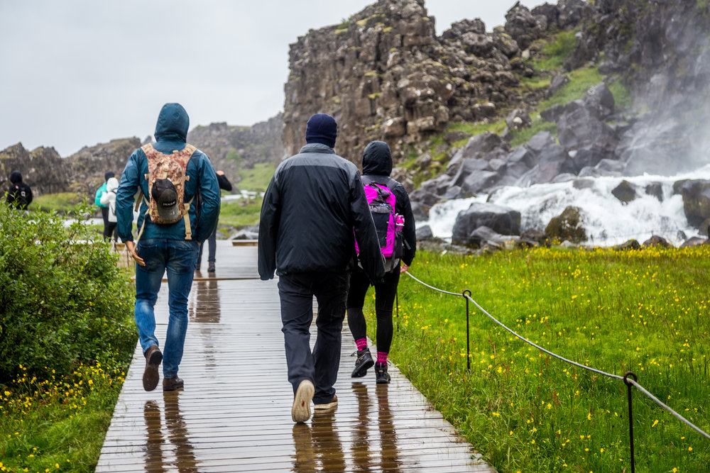 Exploring Pingvellir National Park with VoyEdge RX in July 2017