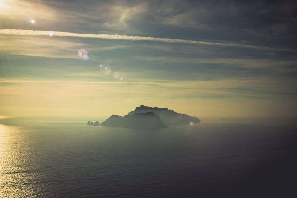 View of Capri, Italy from Nerano, Italy