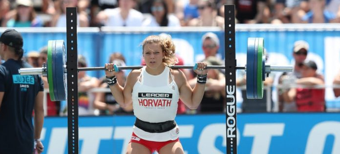 Laura Horvath during the CrossFit Total at the 2018 CrossFit Games. Photo courtesy of CrossFit Inc.