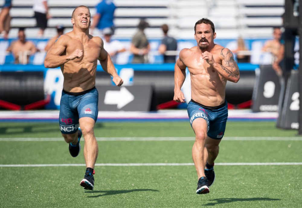 Photo courtesy of: CrossFit Inc.  Pictured left to right: Scott Panchik & Josh Bridges