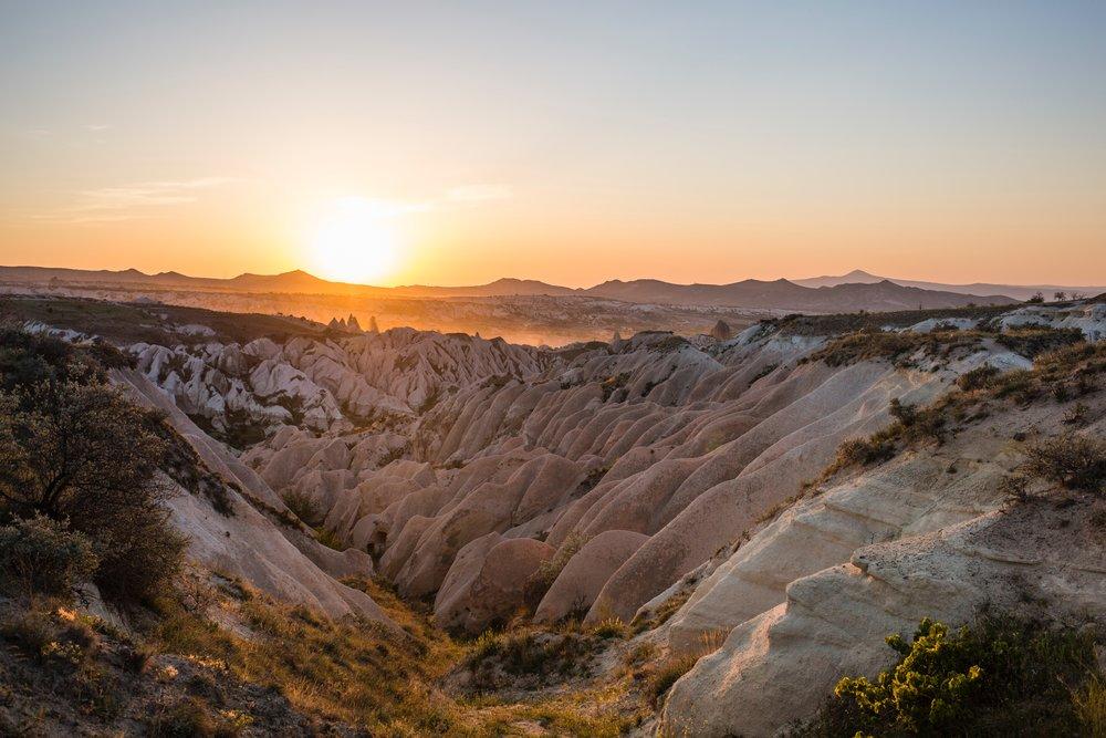 The stunning landscape of Cappadocia, Turkey