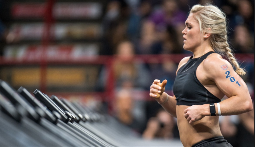 Katrin Davidsdottir at the 2018 Reebok CrossFit Games. Photo courtesy of:  The CrossFit Games