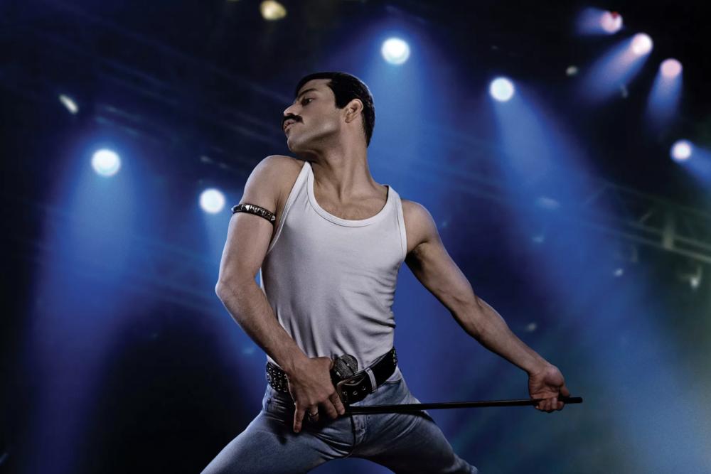 Rami Malek plays Freddie Mercury in  Bohemian Rhapsody.  Nick Delaney/20th Century Fox
