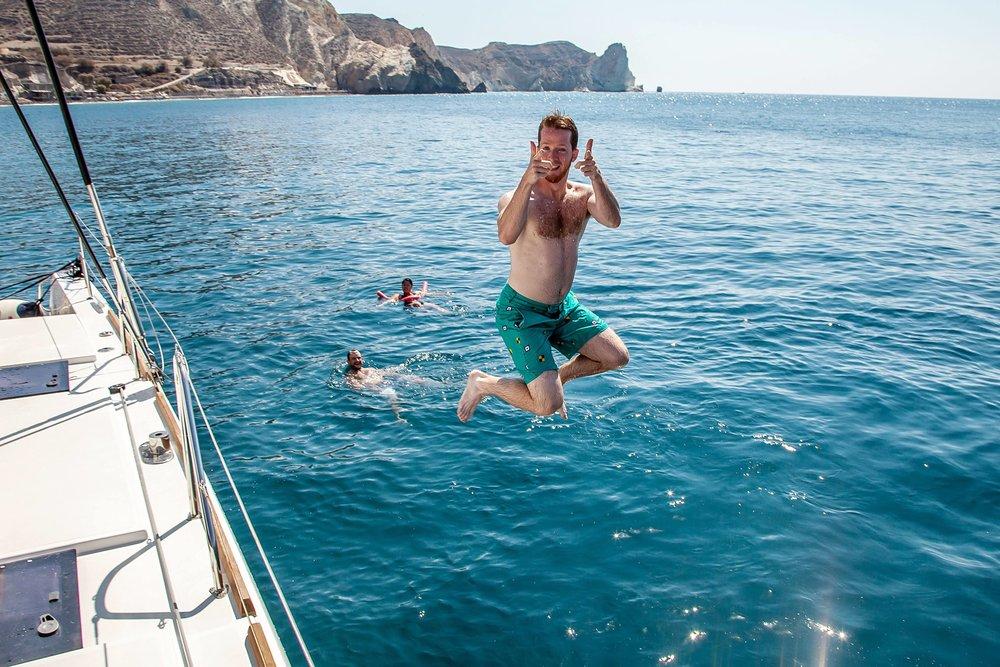 Oh hey, Santorini…..nice water!