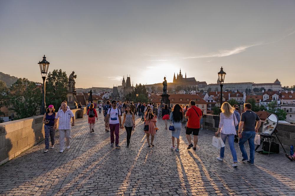 The Charles Bridge in Prague, CZ