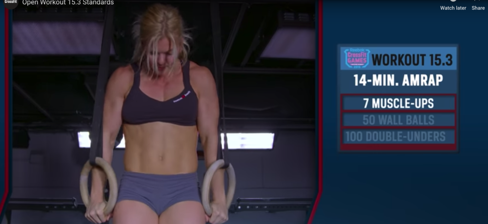 Workout 15.3 from the CrossFit Open