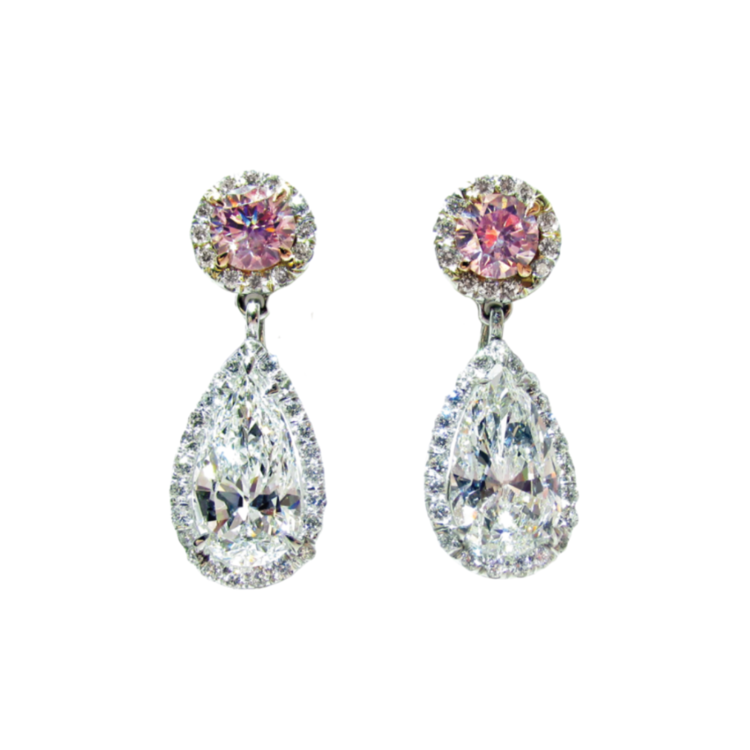 online artune cz sterling earrings silver round drop cubic pearl jewelry pear zirconia and