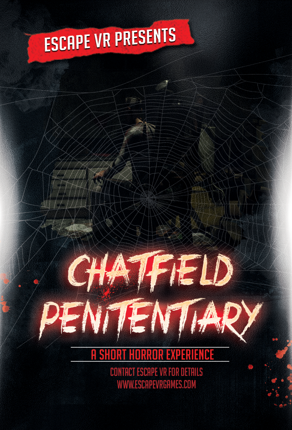 Frighten and Delight your customers - Chatfield Penitentiary is Escape VR's first high-throughput VR experience. Themed for the upcoming holiday season, Escape VR has created a 1-3 minute walking experience to be used alongside amusement and facility entertainment. The total system is highly portable and built to maximize revenue and promote social proof. Contact us for details on how you can integrate Chatfield Penitentiary into your business today!