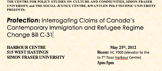 Immigration and Refugee Bill C-31