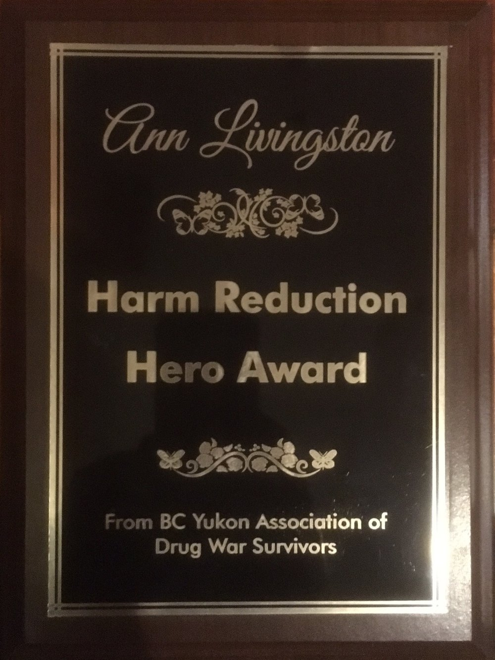 Drug User Groups and Community Resilience - Abbotsford - Harm Reduction Hero Award -  Dec 6,  2017 (2)_cr.jpg