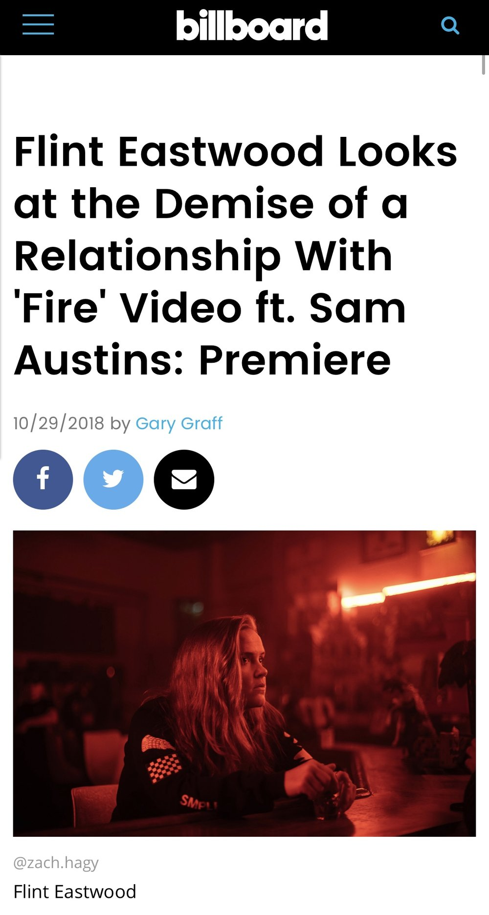 "ARTICLE - Shot on set with Eightfold Collective during ""FIRE"" By Flint Eastwood."