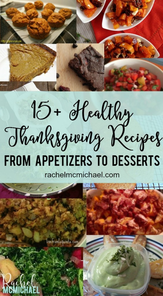 Are you ready for Thanksgiving? Check out this roundup of all of our favorite Healthy Thanksgiving Recipes!! From Appetizers to dessert, we've got you covered!