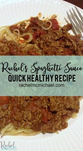 Rachel's Spaghetti Sauce Recipe