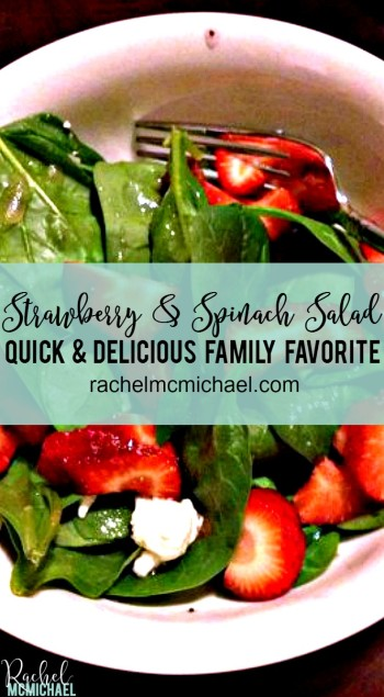 This Strawberry & Spinach Salad is a quick and delicious family favorite. My husband actually requests it!