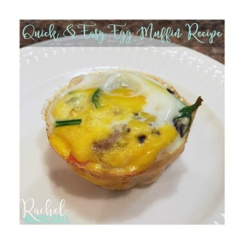"I am by no means ""Pinterest Perfect."" So when someone tells me that a recipe is quick and easy, they better mean it! And when I tell you that this is a quick and easy egg muffin recipe, you'd better believe that's the case! Seriously, this recipe is perfect for the busy mom and sure to be a huge hit for the whole family!"