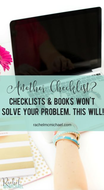 If you struggle with self-discipline, you're not alone! Here's the reality: another checklist isn't the solution. But there's hope. Here's your real problem, and more importantly - your solution!
