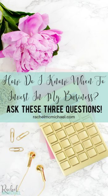 Investing in your online business is often one of the most terrifying steps a new entrepreneur will take. Let's be honest, even as a seasoned entrepreneur, knowing when to invest and where to invest can be intimidating. So how do I know when to invest in my business? I've heard this question from a few clients this week, and I know if they're asking, you might be too! {And the answer might just surprise you!}