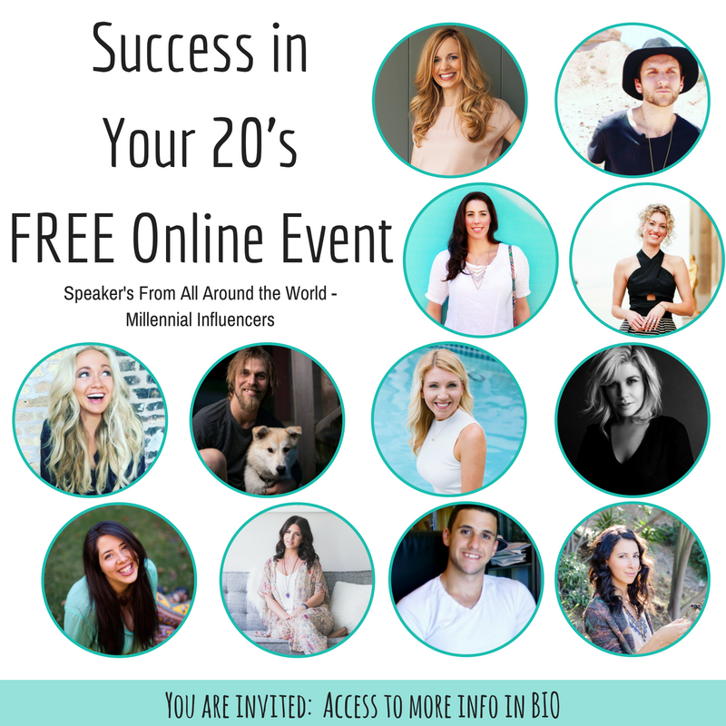 Struggling with what to do in your online business? You know you have what it takes but you need clarity - guidance - direction! Join us for the FREE Success In Your 20's Summit and learn from 20 entrepreneurial experts how to really go after what you want, have clarity for the future, and bring freedom into your life now! Sign up today!
