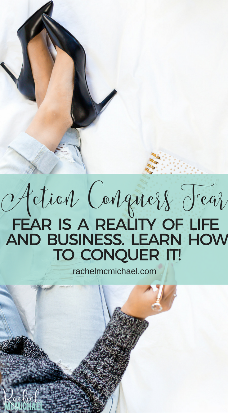 "This morning, I was talking to my mentor about my business and I heard myself saying the words ""but I'm nervous about...""  Maybe you're feeling the same way. There have been so many times in my business when I've been scared…"