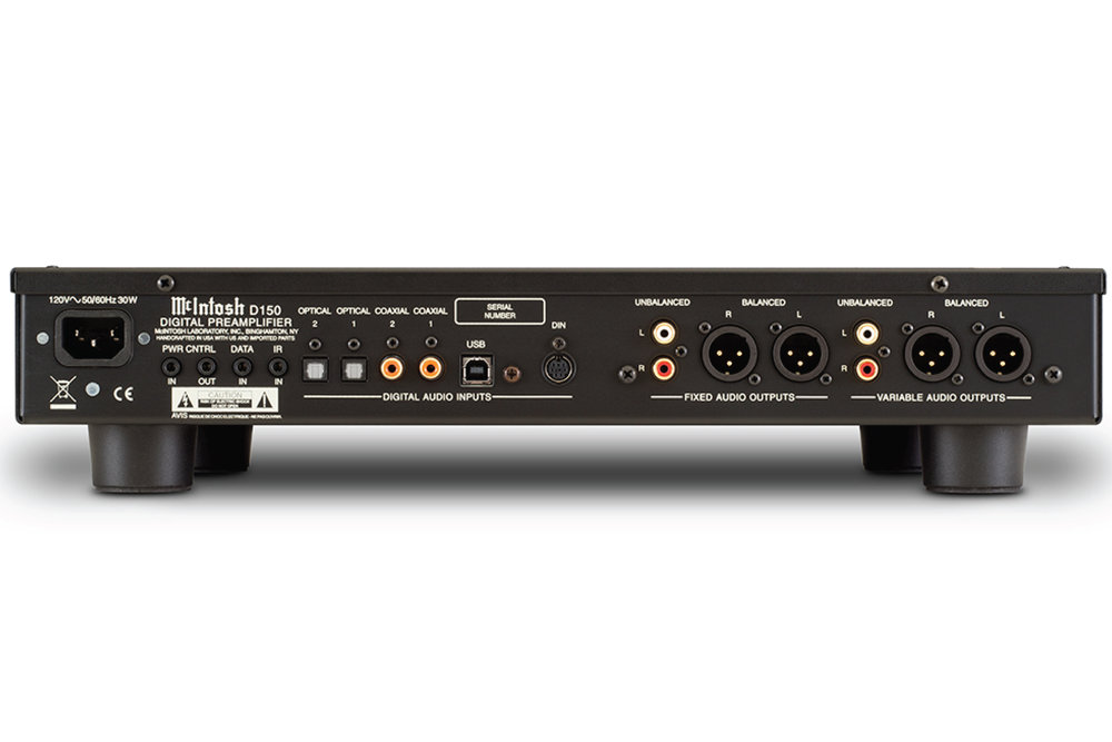 Mặt sau McIntosh D150 Digital Pre-amp