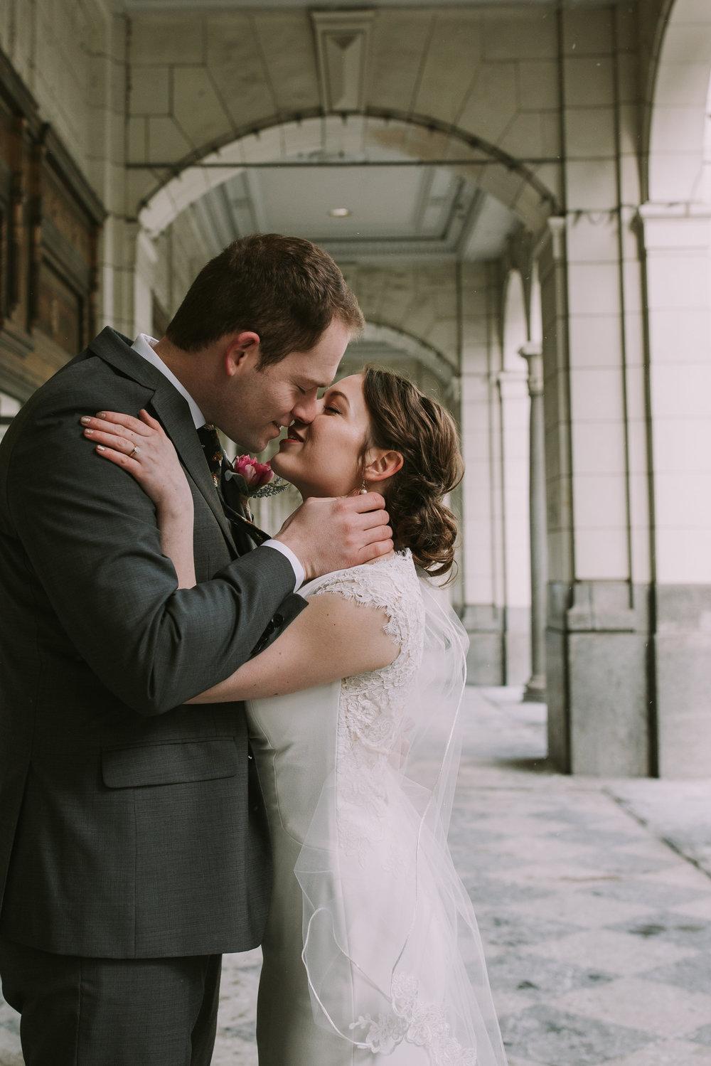 paige and alan 's wedding    hudson's bay calgary & stephen avenue calgary, canada