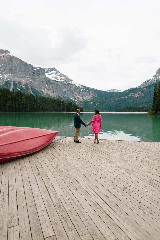 raj + radha's surprise proposal     emerald lake lodge, yoho national park, canada