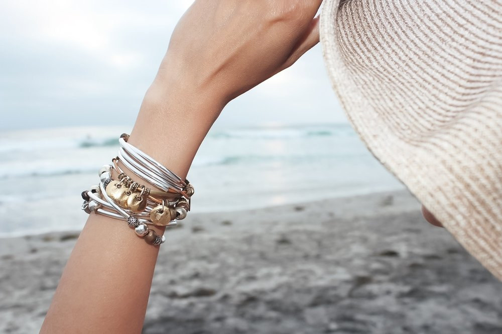 A Beautiful San Diego Beach Day, featuring the  Goldie Wrap  and  Infinity Wrap .
