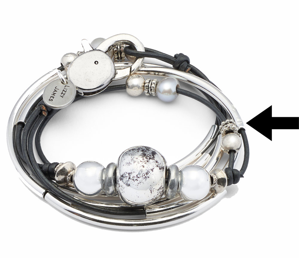 For fans of pearls, the  Lonny  can make a great addition to your Lizzy James artisan jewelry collection.