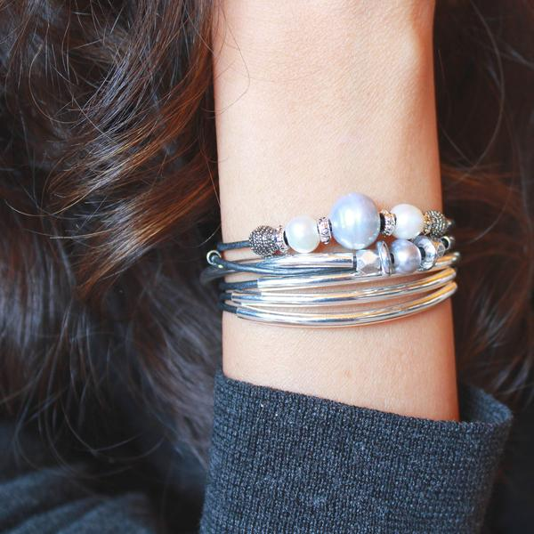 The Princess  wrap bracelet lets your mom shine with freshwater pearls.