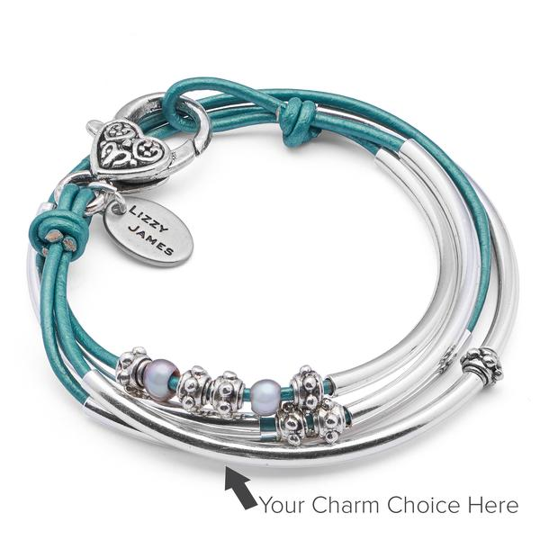 The Mini Charmer- add your charm choice allows you to add the  Emerald Green Crystal Charm