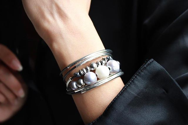 The  Maui  wrap bracelet shown in natural black leather.