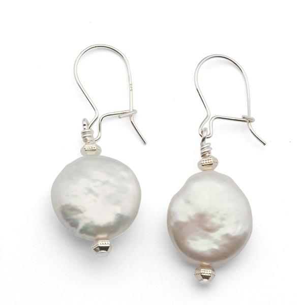 The  Single Pearl Earrings  are a great sterling silver artisan jewelry addition.