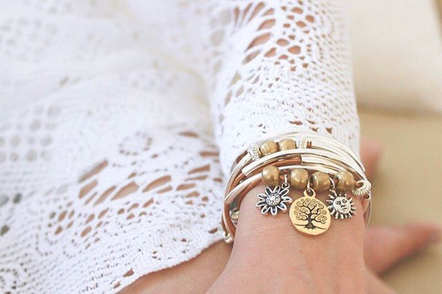 Sunshine vibes with the  Boho with Gold Tree of Life Trio .