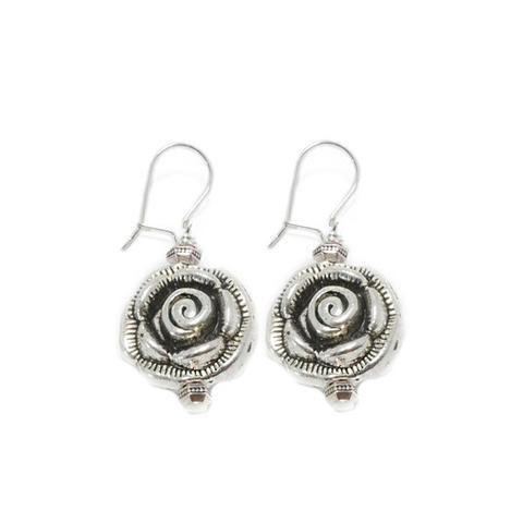 The  Rose Earrings  are a bold and beautiful addition to your artisan jewelry collection.