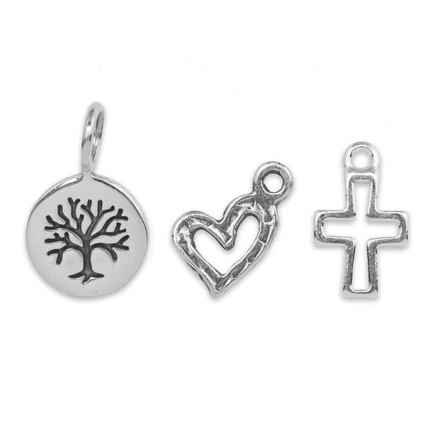 The  Sterling Silver Tiny Tree Charm Trio  is brand new to the  Sterling Silver Charm Collection