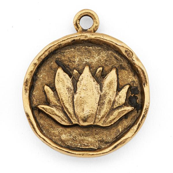 Perfect for all you yogis out there is the  Stamped Lotus Flower Pendant .