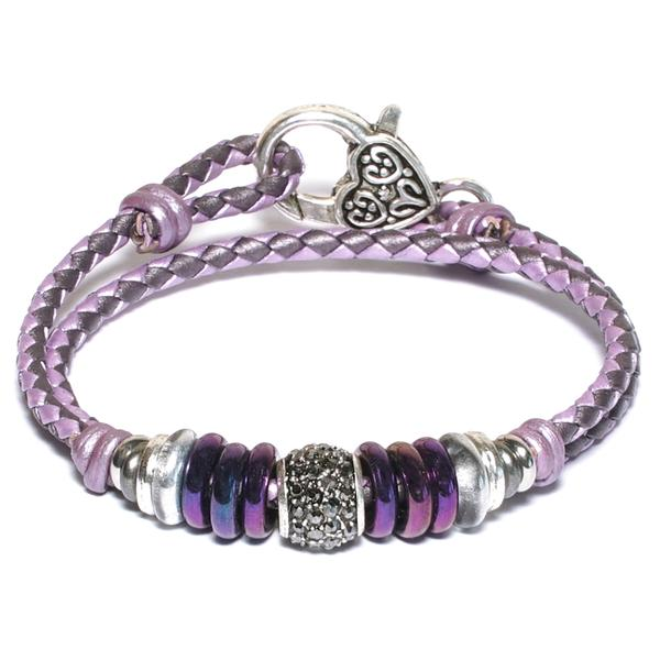 Mini Juliette in Purple Braided Leather