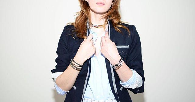 Mini Addison  worn as a bracelet and as a choker.
