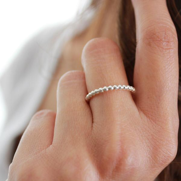 Dotted Sterling Silver Ring  is so simple yet so stunning.