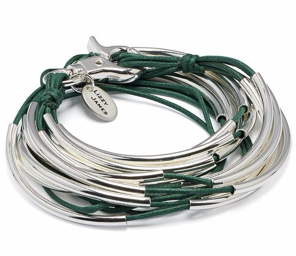 Lizzy Classic Silverplate 5 Strand  in Cotton Cord is very stylish and vegan friendly.