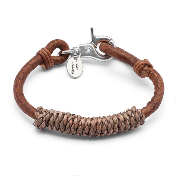 Kylo in Natural Light Brown  wrap bracelet