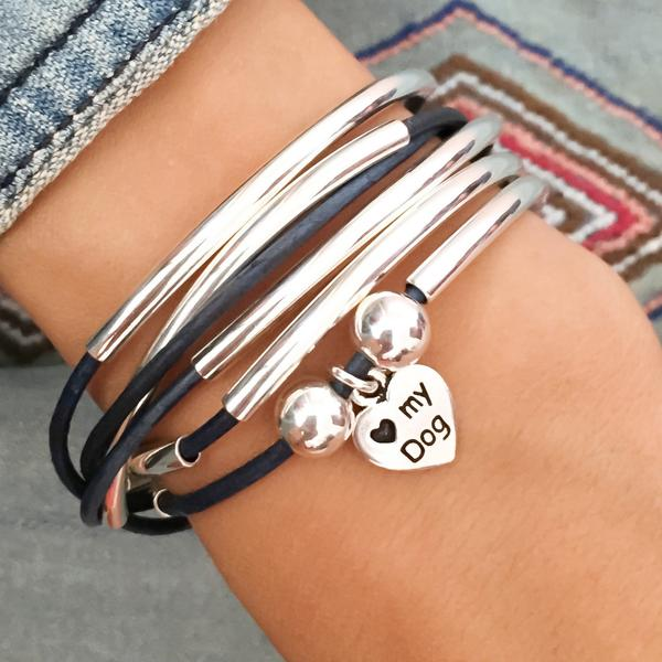 Love my Dog  charm shown on  Girlfriend Wrap - Add Your Charm Choice