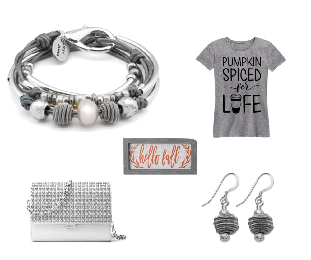 The  Maribel wrap bracelet with the  Zenith Earrings .