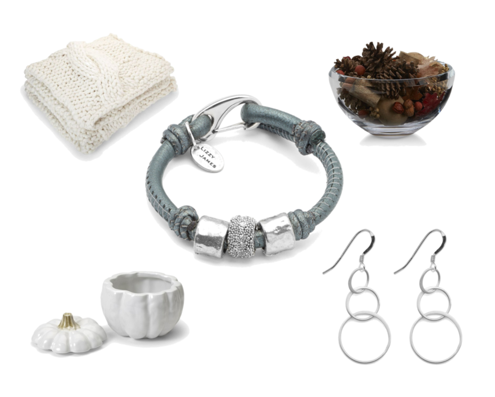 Marla  wrap bracelet paired with the elegant  Echo Sterling Silver Earrings