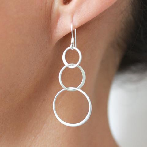 Echo Sterling Silver Earrings  are a stunning handcrafted artisan jewelry piece.