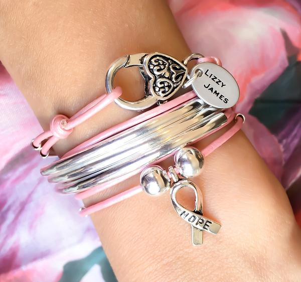 The  Girlfriend wrap with Hope Ribbon Charm , comes as shown.