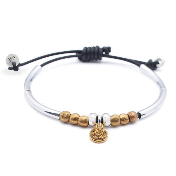 Divine Bracelet with Druzy Charm