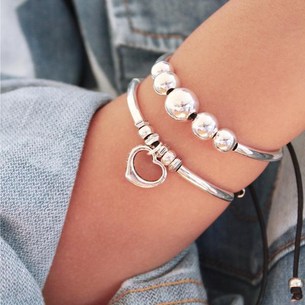 Stacked Joy Bracelet Set with Wisdom and Sweetheart Bracelets